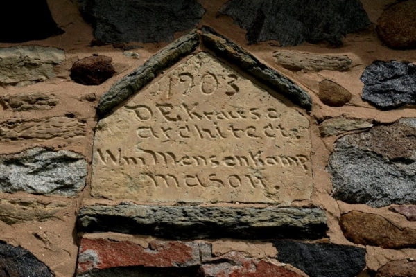 Chase Stone Barn 1903 Inscription – Kristim Kolkowski