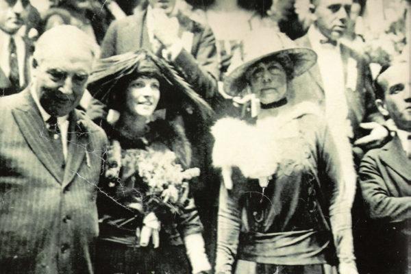 Harding with Broadway stars – 1920